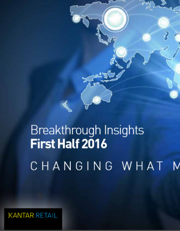 Kantar retail  breakthrought insights 1st haff 2016