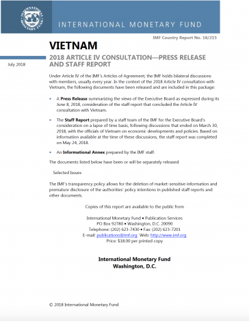 International Monetary Fund Viet Nam 2018